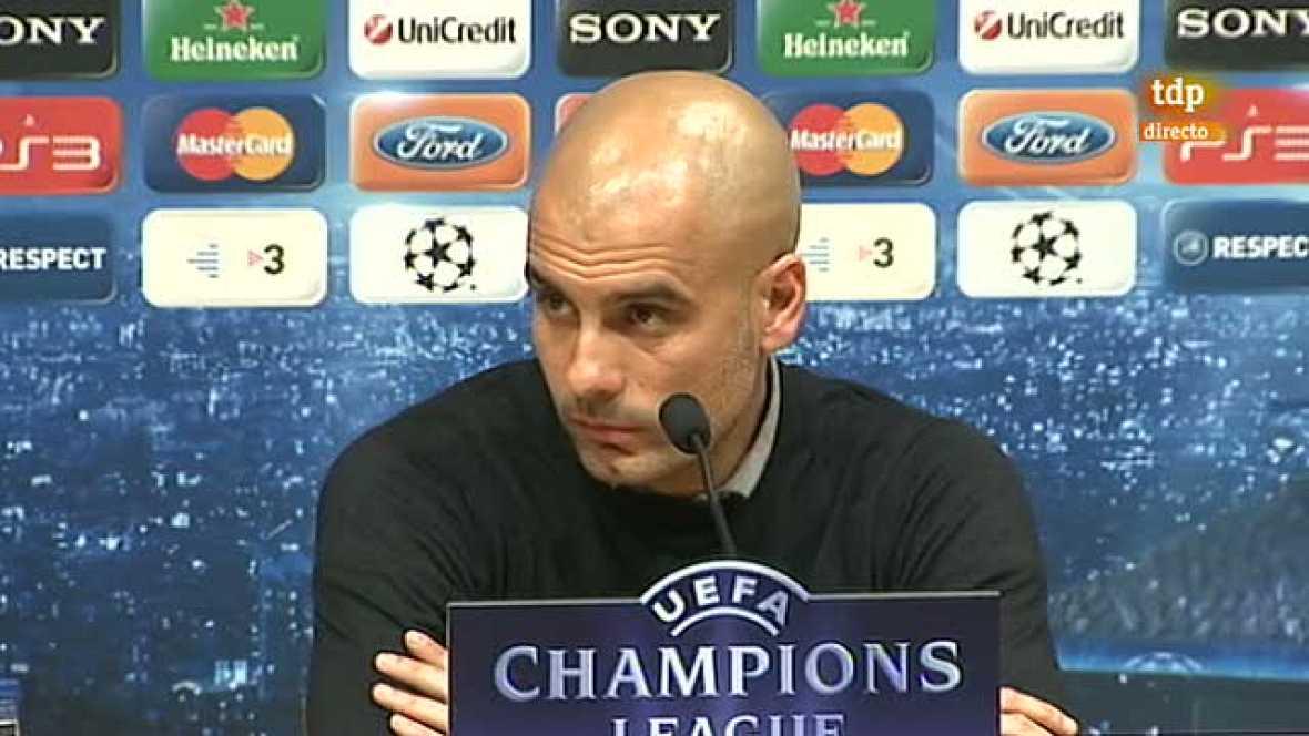 """Guardiola ha recordado que el Bayer es el típico equipo alemán. Fuerte, aguerrido, con jugadores muy altos y que no se rinden jamás: """"No dan nada por perdido. Parecen que no están y, de repente, consiguen hacerte varias ocasiones de gol""""."""