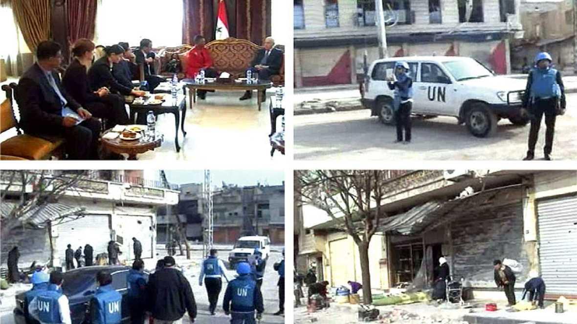 La representante de asuntos humanitarios de la ONU visita Baba Amro
