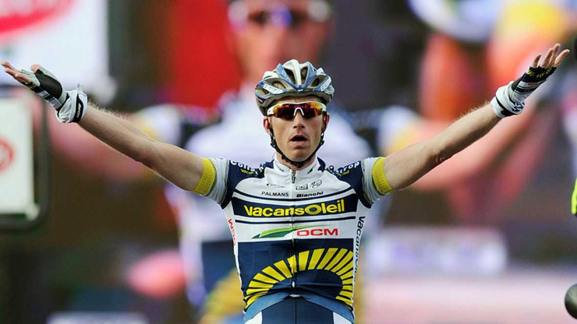 El holandés Lieuwe Westra se ha apuntado la etapa reina de la París-Niza por delante de Valverde, Wiggins y Leipheimer. Wiggins mantiene el liderato.