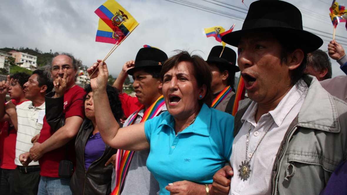 Marcha indígena contra el presidente de Ecuador-