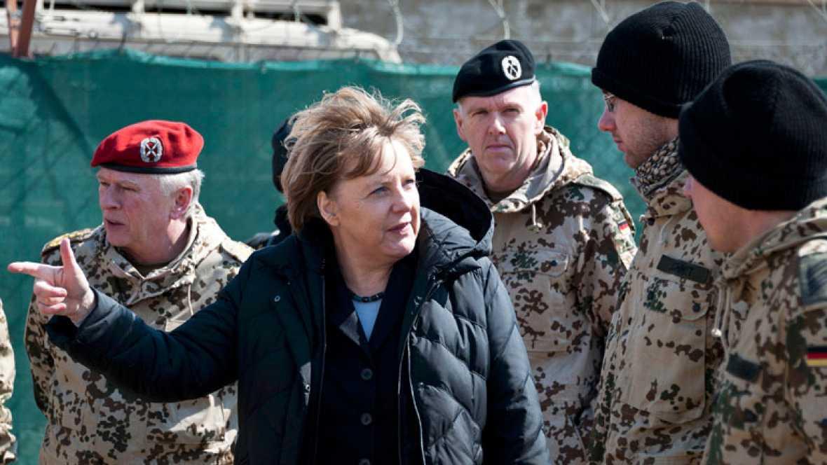 Visita sorpresa de Angela Merkel a Afganistán