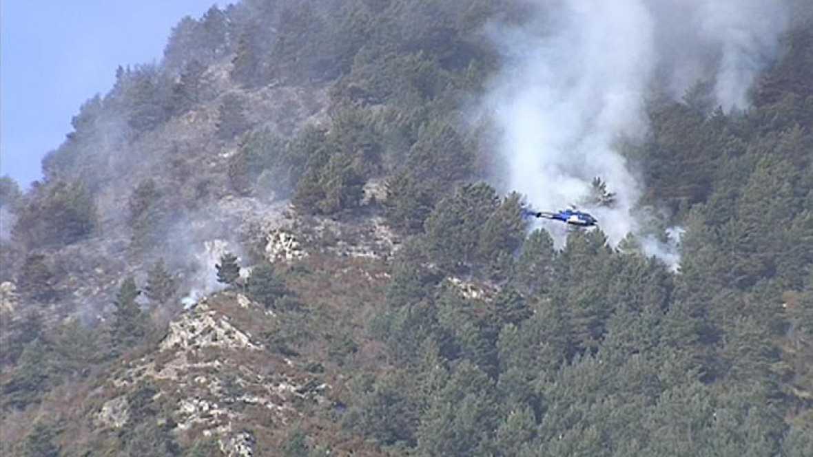 Extinguidos la mayoría de los incendios en el Pirineo