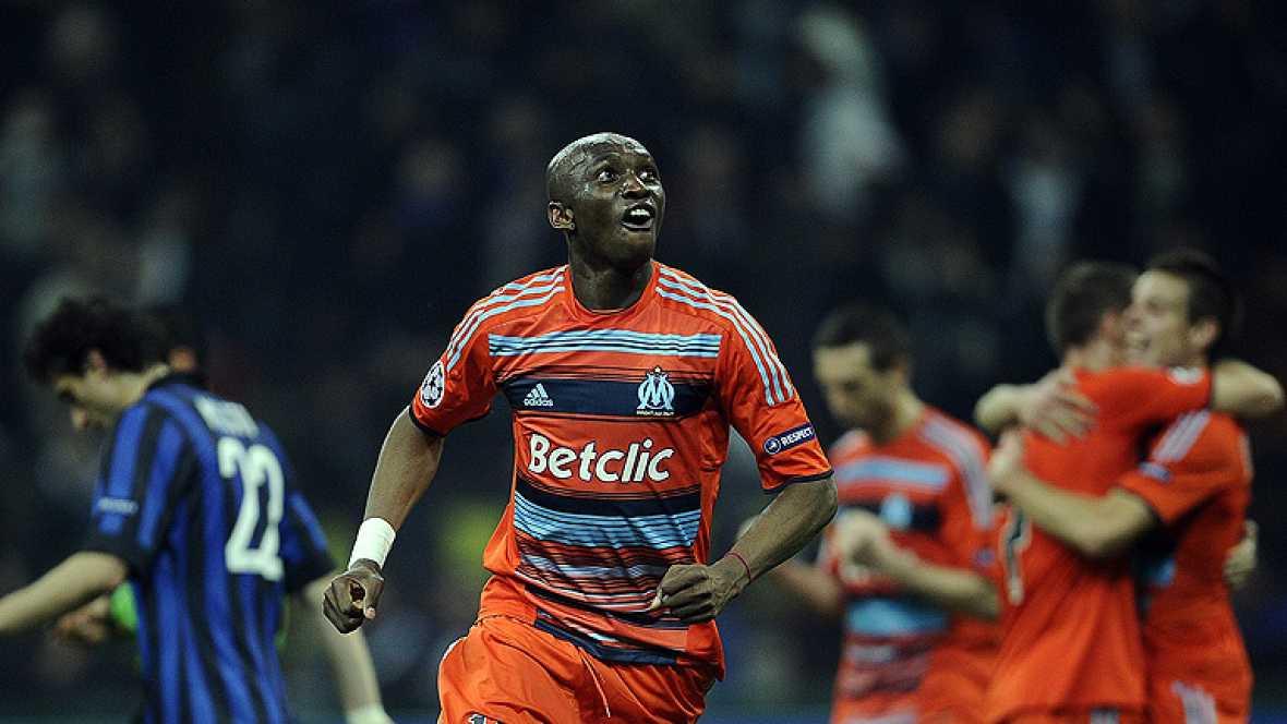 El Olympique de Marsella ha conseguido clasificarse para los  cuartos de final de la Liga de Campeones gracias a un gol de Brandao  en el último suspiro, el cual dejó 'k.o' al Inter de Milán, que firma  con estrépito una eliminación continental ante