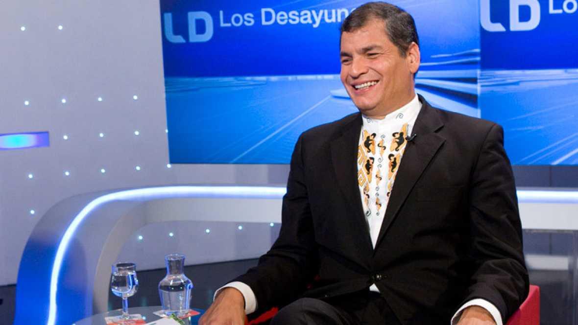 Entrevista con el presidente de Ecuador, Rafael Correa, en Los desayunos de TVE