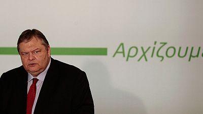 Evangelos Venizelos, nuevo líder del PASOK, dimite como ministro de Finanzas de Grecia