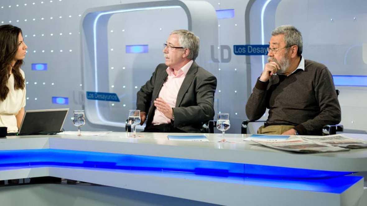Entrevista íntegra a Toxo y Méndez en 'Los desayunos de TVE'