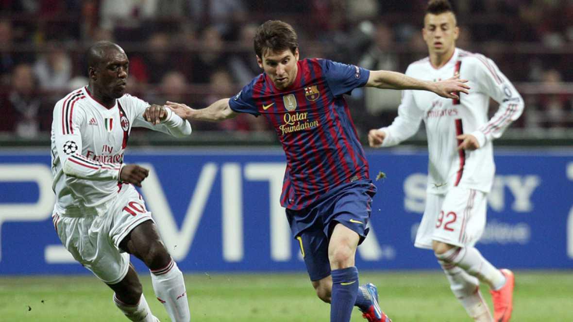 Tablas entre el Barça y el Milán
