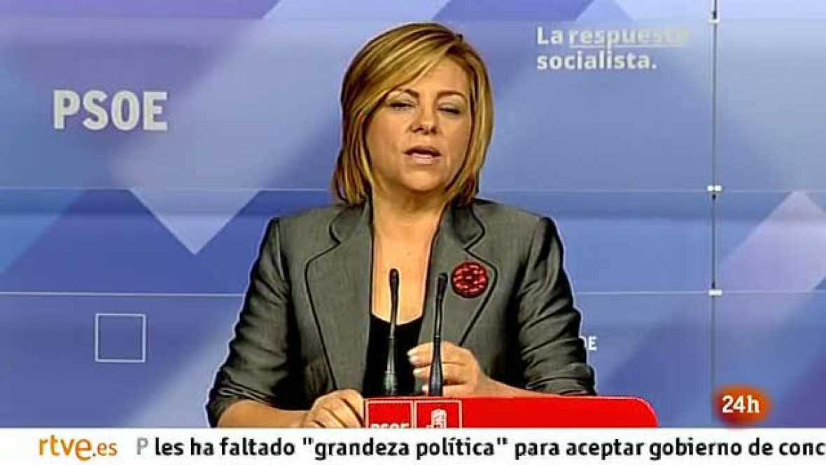 """Valenciano considera que Rajoy ha ido """"del engaño al desengaño"""" en sus primeros cien días de Gobierno"""
