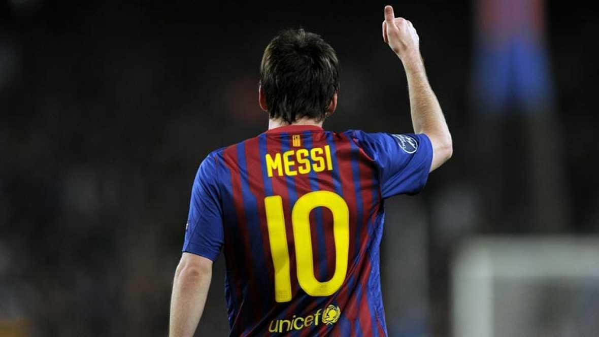 El Barça se clasifica para su quinta semifinal consecutiva de Champions tras ganar 3-1 al Milan. Messi hizo dos goles y superó la barrera de los 50 goles.