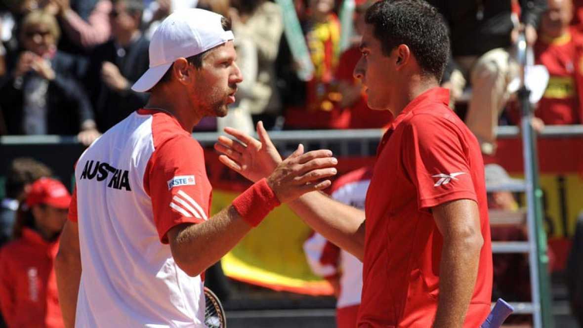 TVE rescata los tres mejores puntos del partido que abre la eliminatoria de cuartos de final entre España y Austria.