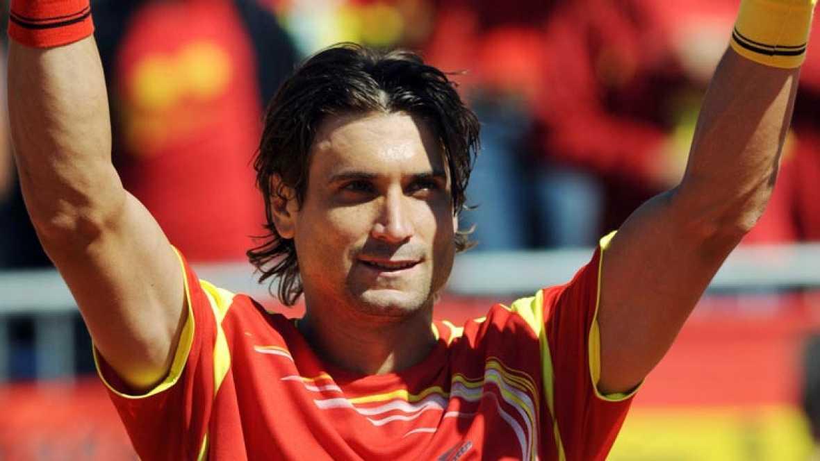 TVE rescata los tres mejores puntos del partido entre David Ferrer y Andreas Haider-Maurer de cuartos de final de la Copa Davis entre España y Austria.