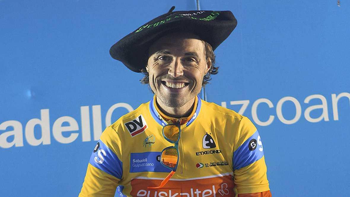 Samuel Sánchez (Euskaltel Euskadi) se ha impuesto a Joaquín 'Purito' Rodríguez (Katusha) en el duelo entre españoles en el que había quedado la 52 Vuelta al País Vasco y se ha proclamado campeón de la prueba vasca ganando incluso hoy la crono final d