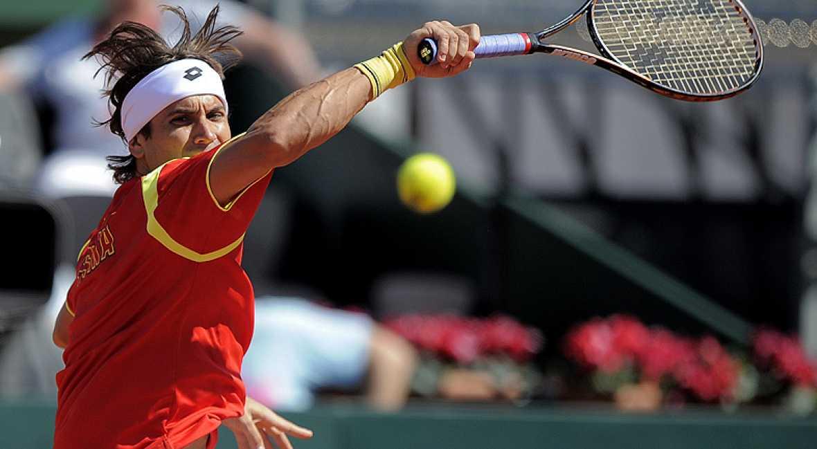 David Ferrer se ha impuesto a Jurgen Melzer con un claro 7-5, 6-3 y 6-3, dándole a España el pase a semifinales de la Davis.