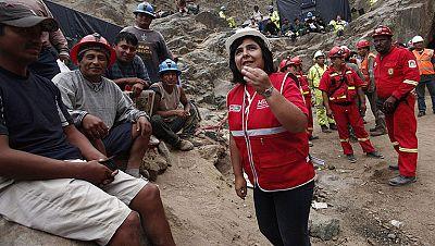 Ollanta Humala visita la mina de Perú donde están atrapados nueve mineros