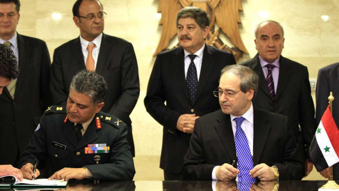 Siria y la ONU firman el acuerdo para el despliegue de los observadores