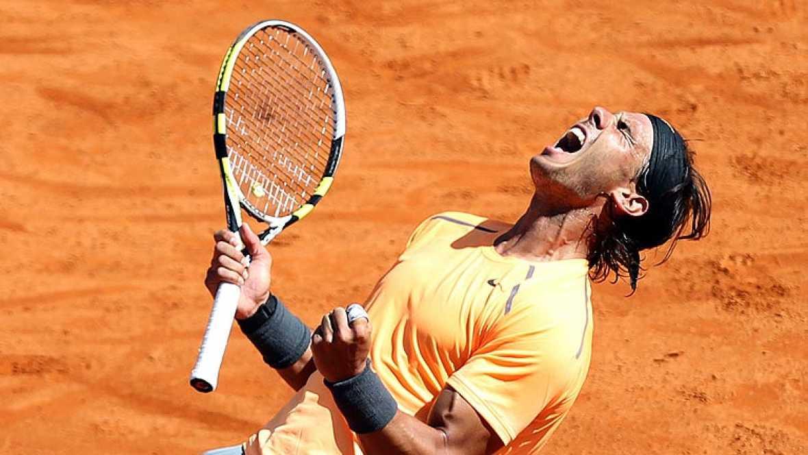 Último punto del partido de la final del Masters 1000 de Montecarlo, que Rafa Nadal gana al serbio Novak Djokovic.