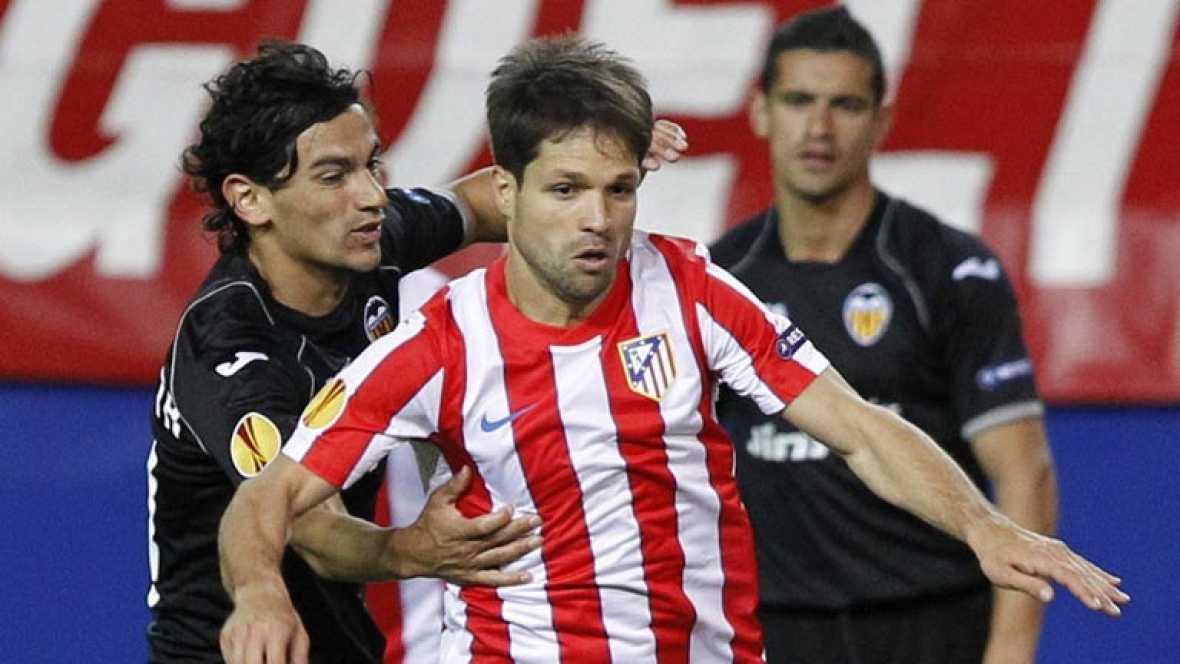 Valencia y Atlético de Madrid disputan en Mestalla la vuelta de la semifinal de la Europa League con 4-2 de ventaja para los rojiblancos. En la otra semifinal, el Athletic deberá remontar el 2-1 de la ida contra el Sporting de Lisboa.