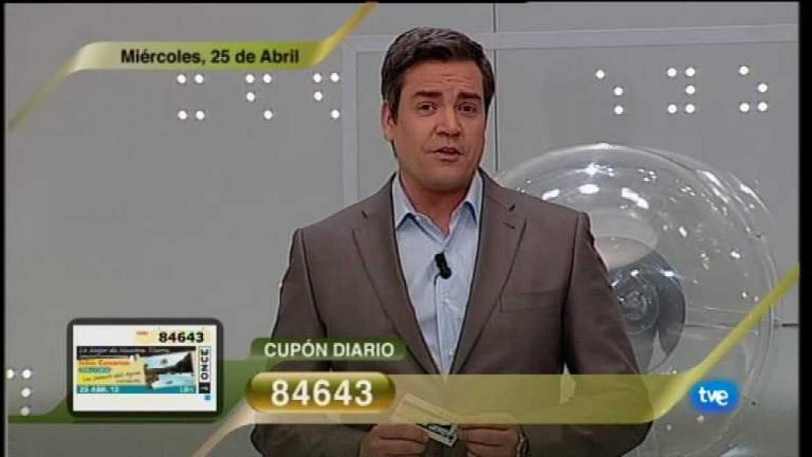 Sorteo ONCE - 25/04/12 - Ver ahora