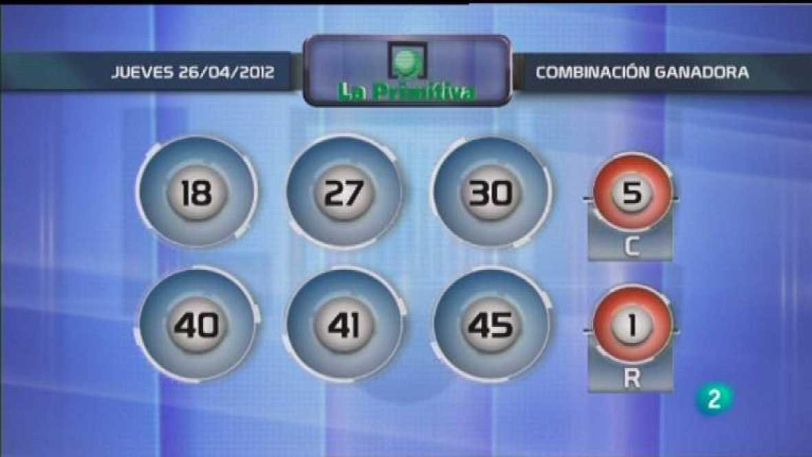 Lotería diaria - 26/04/12 - Ver ahora