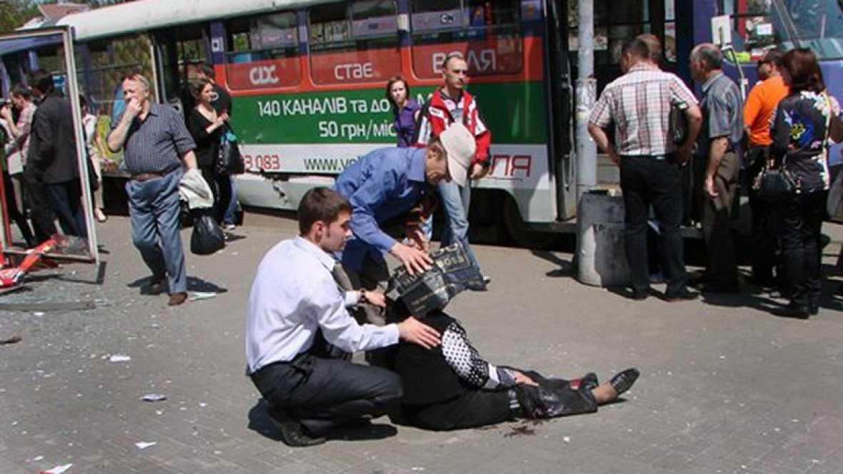 Al menos 25 heridos en una cadena de explosiones en Ucrania