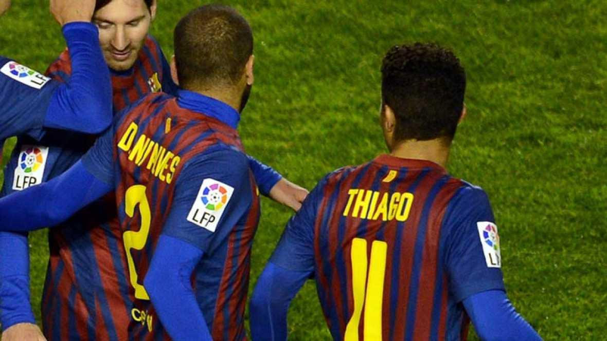 Guardiola critica el baile de Thiago y Alves