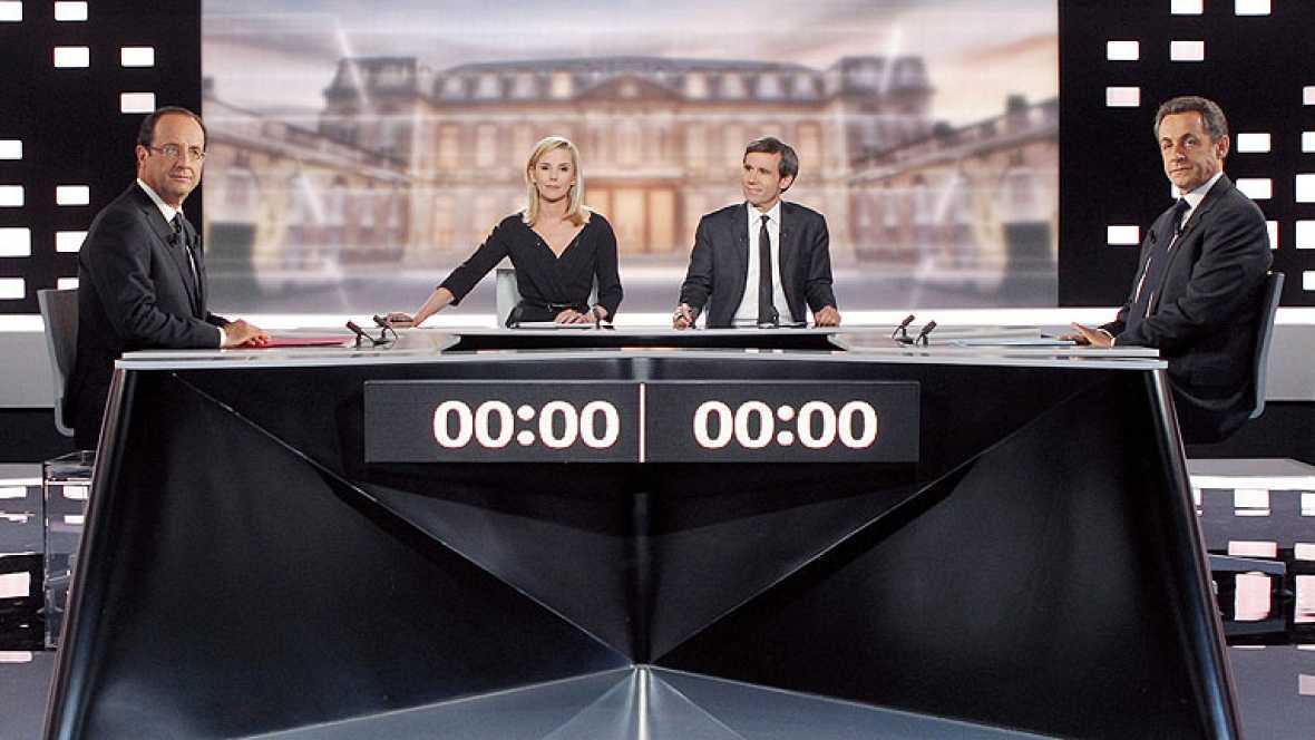 Debate entre Sarkozy y Hollande a cuatro días de la segunda vuelta de las presidenciales