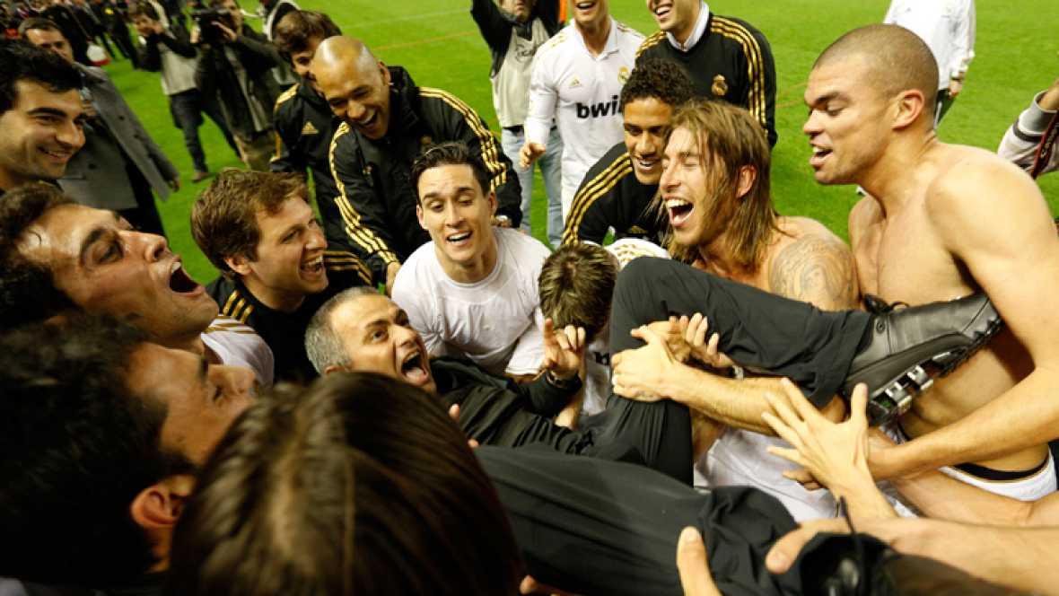 La celebración de los jugadores del Real Madrid