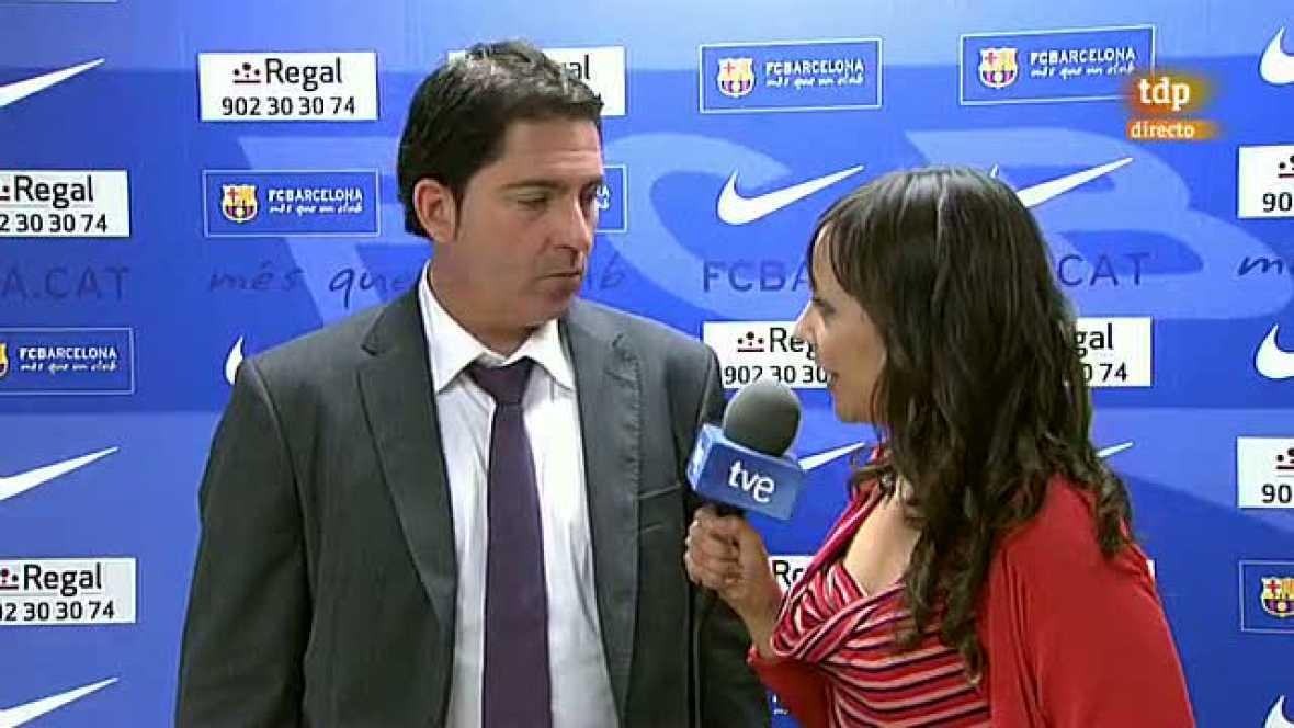 El entrenador del Barcelona Regal ha analizado las claves del partido que su equipo ha remontado frente al Real Madrid en un gran último cuarto.
