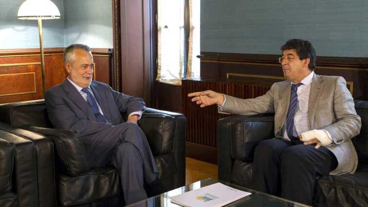 Valderas y Griñán se reúnen para cerrar la composición del nuevo gobierno