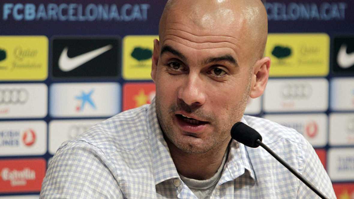 """El entrenador del FC Barcelona, Pep Guardiola, ha asegurado este  viernes sobre su despedida ante la afición en el Camp Nou, ya que  este sábado dirige su último partido en casa en el derbi contra el  RCD Espanyol, que espera que sea """"natural"""" y ha r"""