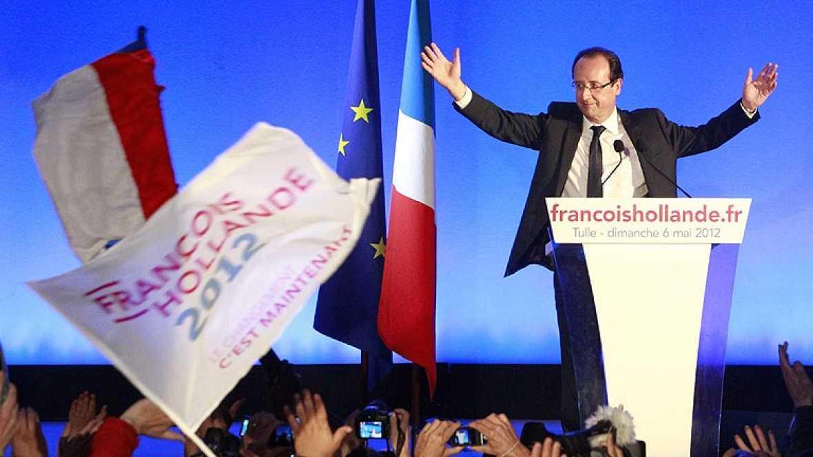 Intervención íntegra de Hollande tras su victoria electoral