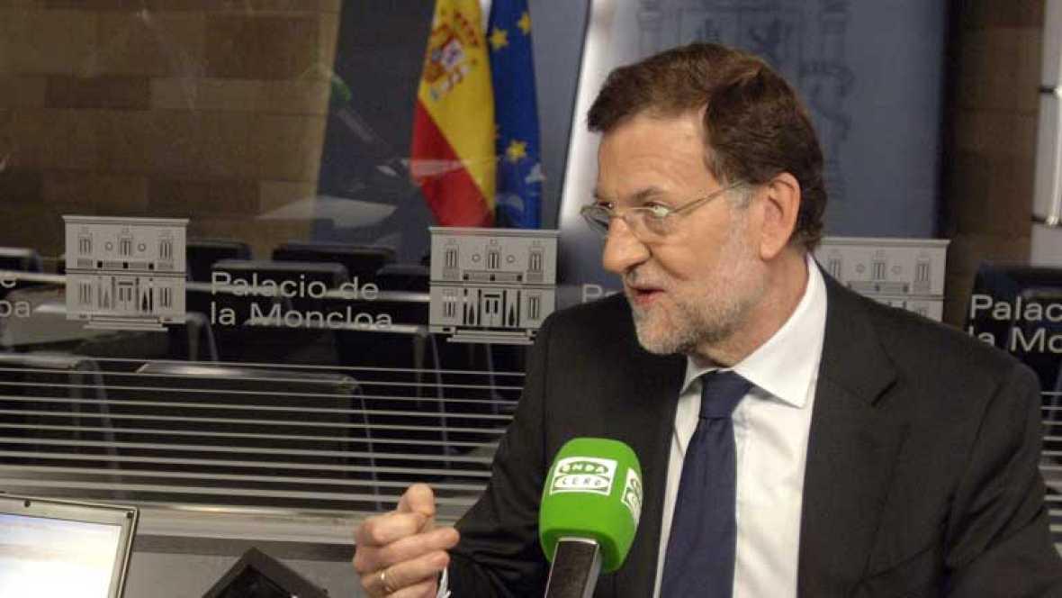 Mariano Rajoy felicita a Hollande por su triunfo en las elecciones francesas