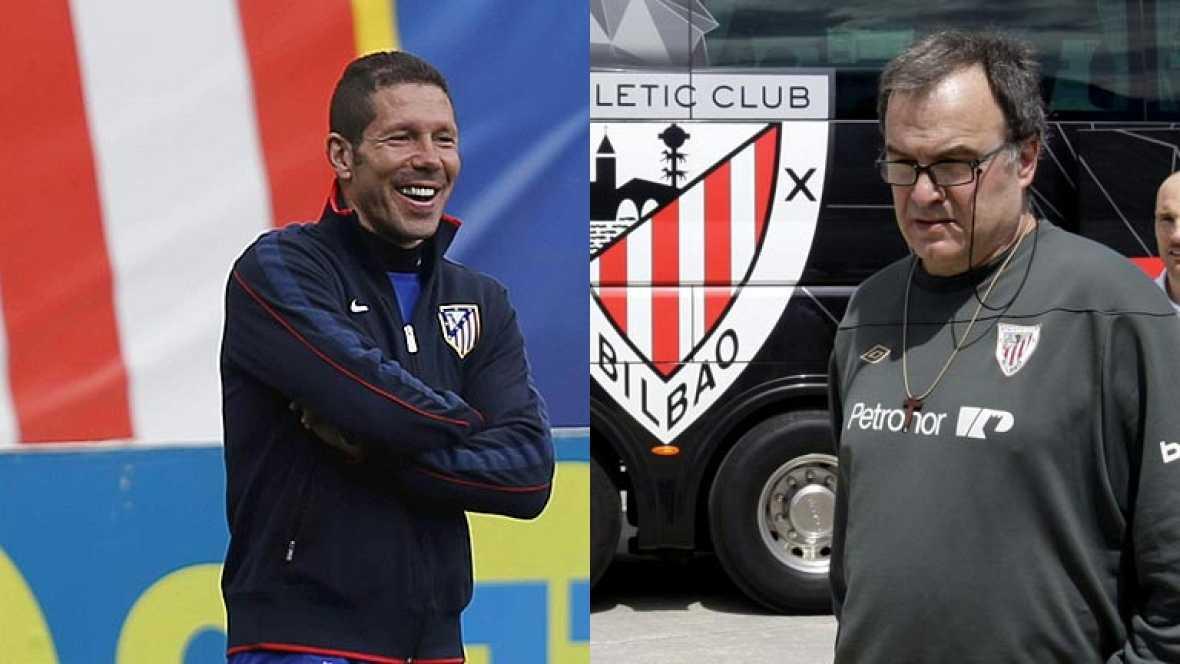El Atlético de Madrid y el Athletic de Bilbao juegan este miércoles la final de la Europa League con sus técnicos a la cabeza: Diego Simeone y Marcelo Bielsa.
