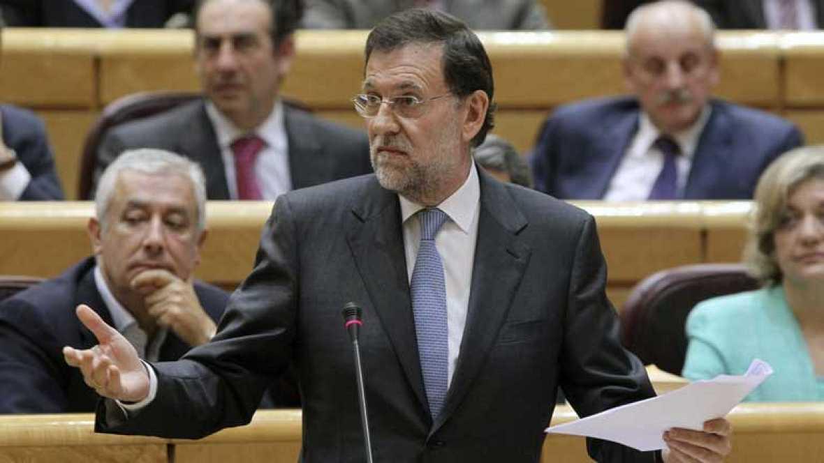Rajoy comparece en la sesión de control del Gobierno en el Senado