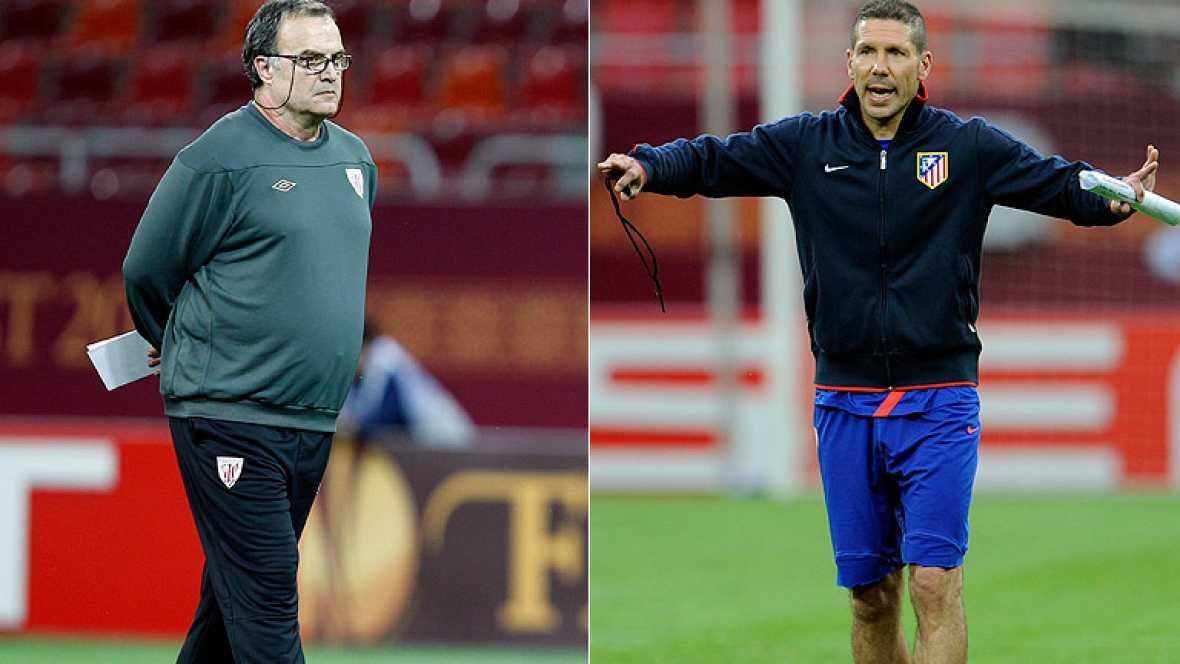 """Los entrenadores de Atlético de Madrid y Athletic Club han expresado en la jornada previa a la final de la Europa League la """"ilusión"""" de ambos equipos por lograr levantrar el cetro europeo."""
