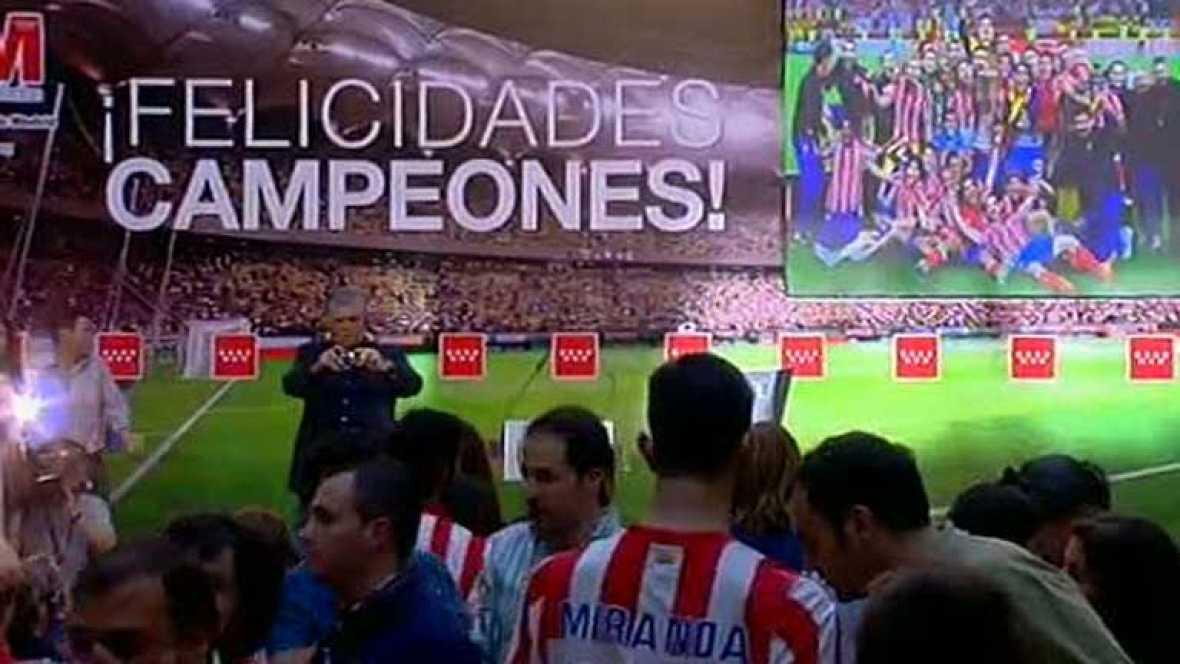 El Atlético ve el resumen de la final en la Comunidad