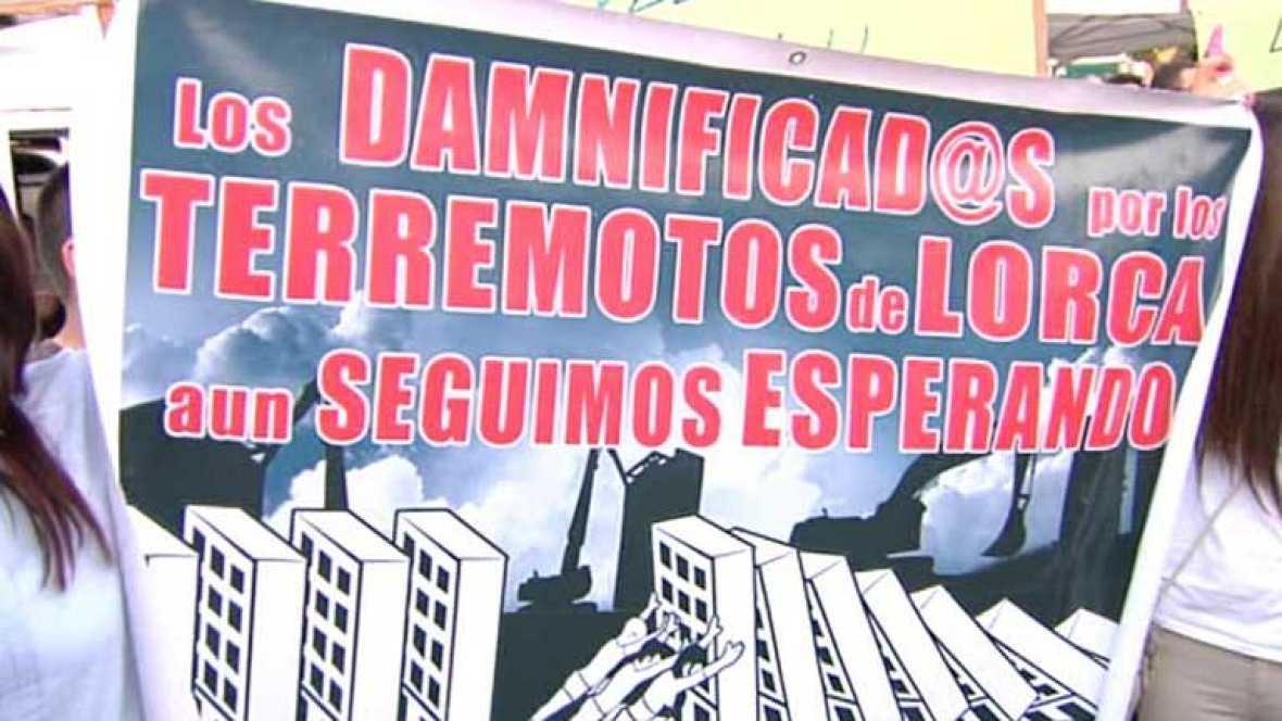 Lorca recuerda el terremoto un año después y pide ser reconstruida