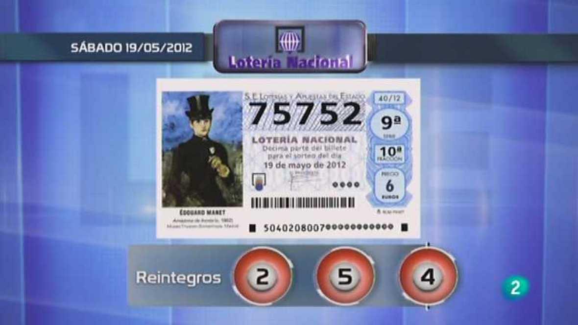 Lotería diaria - 19/05/12 - ver ahora
