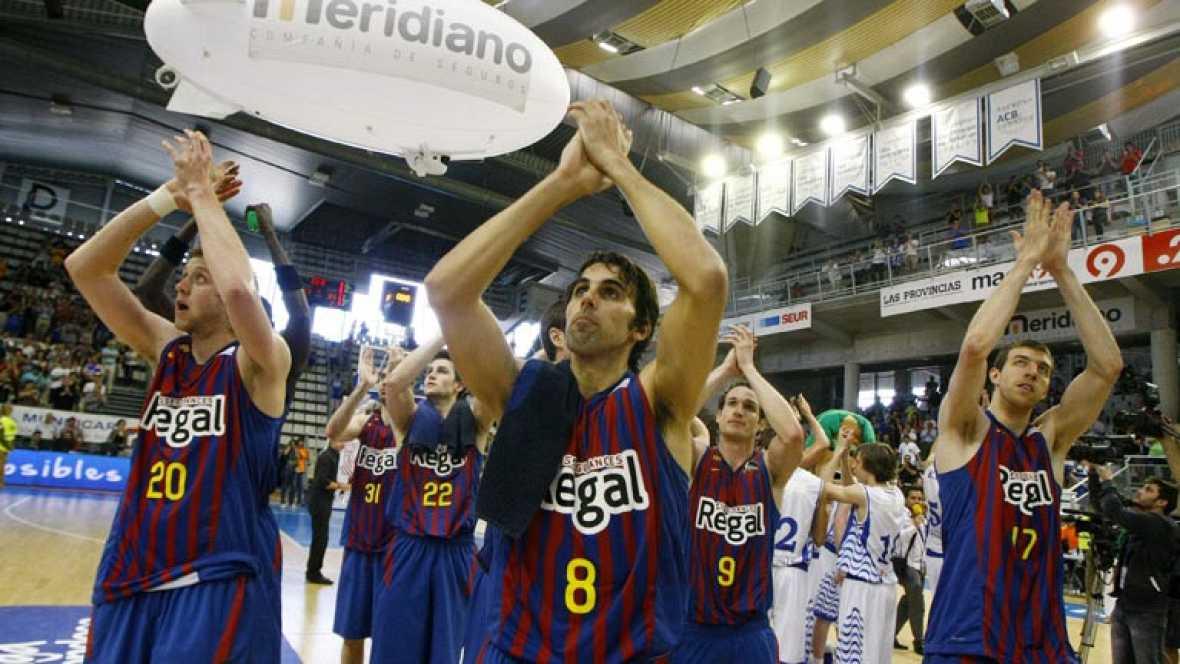 Azulgranas y baskonistas superan a Lucentum y Gescrap, respectivamente, en los segundos partidos de sus eliminatorias de cuartos. Valencia Basket y Lagun Aro irán al desempate.