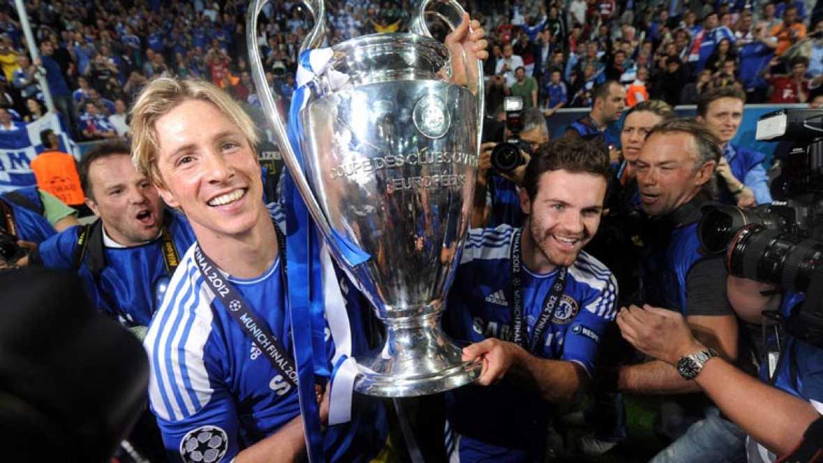 Había interés en la final de la Champions por la presencia de españoles. Los fans de Juan Mata y Fernando Torres vibraron con la victoria del Chelsea. Mientras, en Granada los parientes de Mario Gómez sufrieron con la derrota.