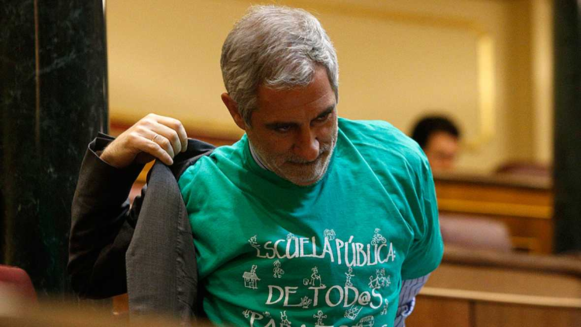 Camisetas verdes educación pública congreso