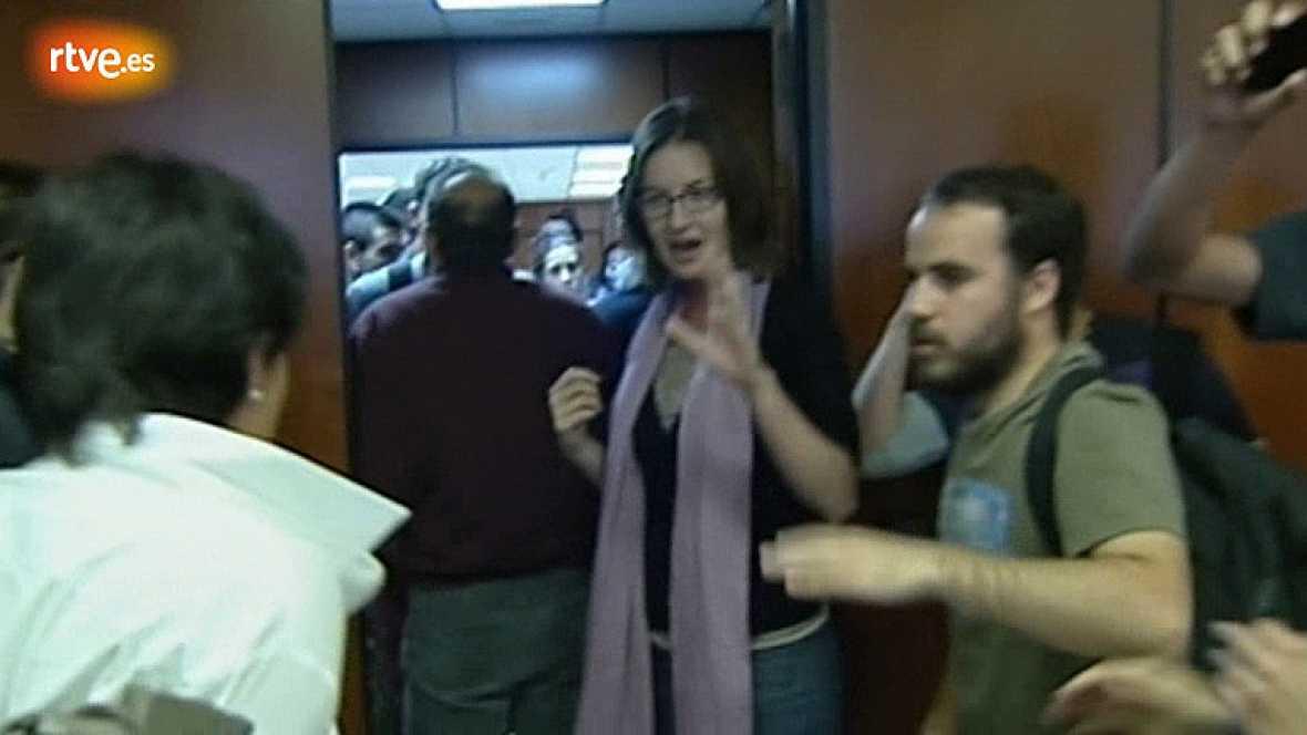 Empujones en la consellería de Educación de Baleares entre la jefa de Gabinete y los jóvenes