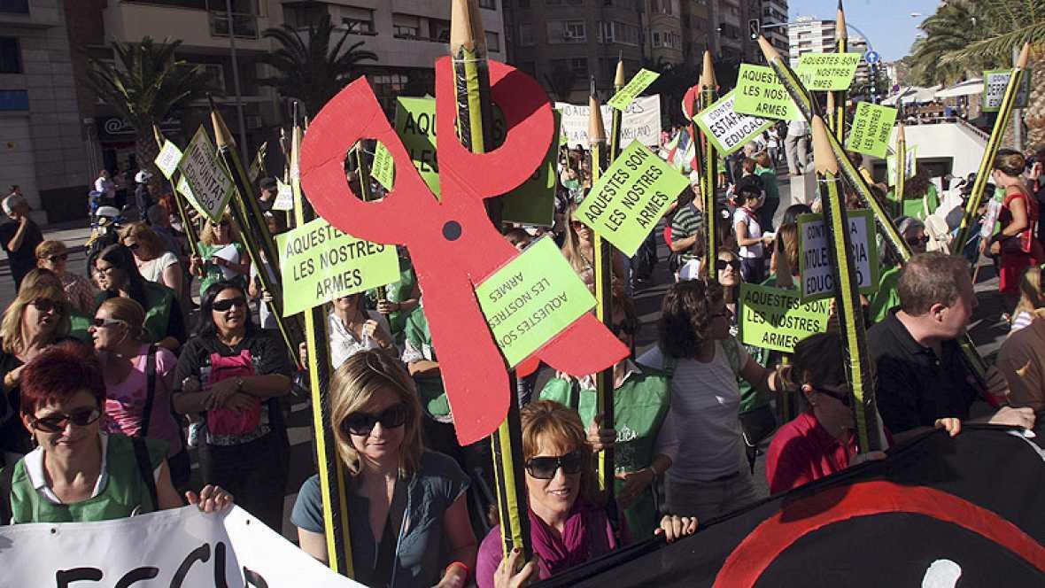 Manifestaciones y concentraciones en España cierran la primera huelga de la Enseñanza
