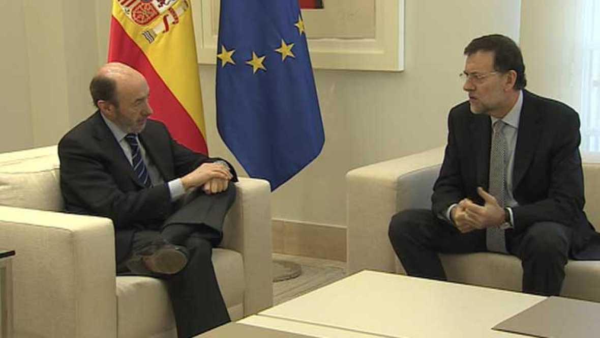 La conversación telefónica entre Rajoy y Rubalcaba deja una cita para este viernes en Moncloa