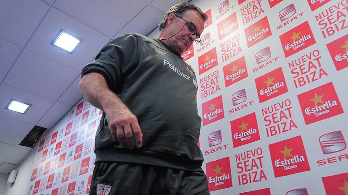 El entrenador del Athletic Club, el argentino Marcelo Bielsa, ha considerado hoy, en la rueda de prensa previa a la final de la Copa del Rey que medirá mañana a su equipo con el FC Barcelona en el Vicente Calderónl, que su compatriota Leo Messi, la g