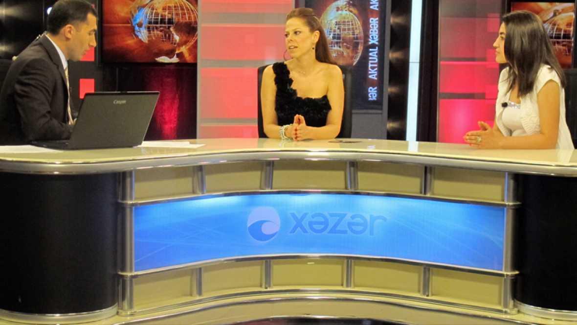 Eurovisión 2012 - Pastora Soler, estrella de la televisión azerí