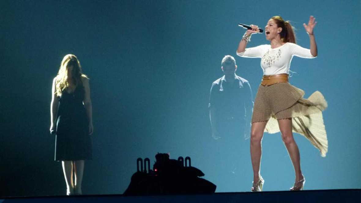 Pastora Soler antes de la final de Eurovisión en La mañana de La 1