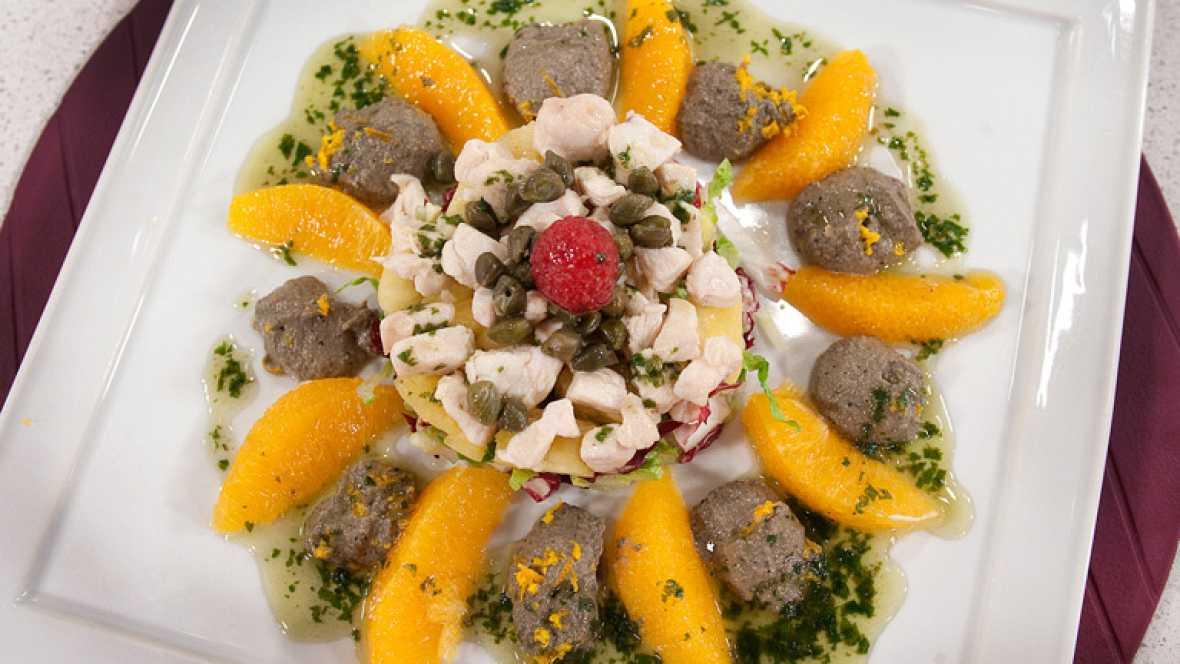 Saber cocinar - Ensalada de ave con naranja y paté de
