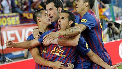 El delantero del FC Barcelona Pedro ha marcado el primer gol de su equipo en la final de Copa del Rey ante el Athletic de Bilbao. El canario ha abierto el marcador en el minuto 3 de juego, al poco tiempo de arrancar el encuentro.
