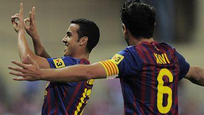 El delantero del Barça Pedro ha marcado el 0-3 en el minuto 26 de juego. Era el segundo gol del canario en el encuentro, ya que abrió el marcador en el minuto 2.